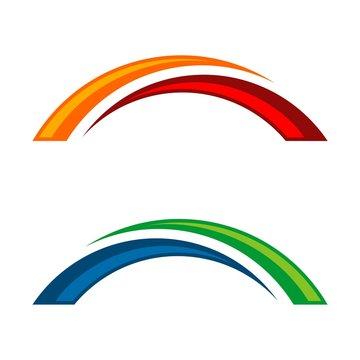 Set Bridge Swoosh Logo Template Illustration Design. Vector EPS 10.