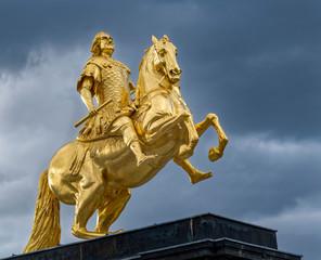 Denkmal August der Starke Dresden gold