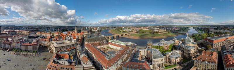Dresden Panorama Luftaufnahme