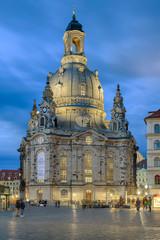 Frauenkirche Dresden beleuchtet