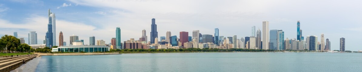 Papiers peints Chicago Chicago downtown buildings skyline panorama