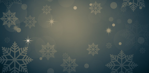 snow background with Snowflakes and snowfall on a cold  winter background