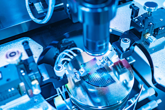 Apparatus for assembling miniature electronic components. High-precision machine for the production of printed circuit boards. Robotic production. High accuracy of work