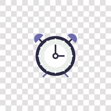alarm clock icon sign and symbol. alarm clock color icon for website design and mobile app development. Simple Element from essential collection collection isolated on black background.