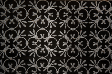 ornate wrought-iron elements of metal gate decoration. Fototapete