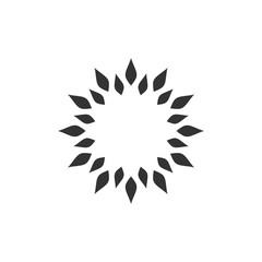 Star Blossom Flower Ornamental Logo Template Illustration Design. Vector EPS 10.