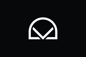 Initial letter DK KD DV VD minimalist art logo