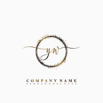 YW Initial luxury handwriting logo vector