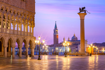 Wall Mural - San Marco square at sunrise. Venice, Italy