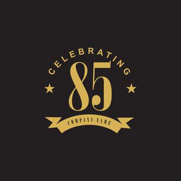 85th years celebrating anniversary icon logo design vector template