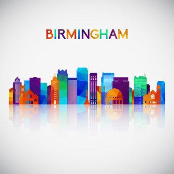 Birmingham, Alabama USA skyline silhouette in colorful geometric style. Symbol for your design. Vector illustration.