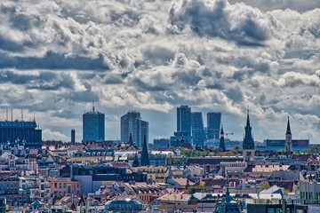 Prague is the capital and largest city in the Czech Republic, the 14th largest city in the European Union. View from the town hall tower.