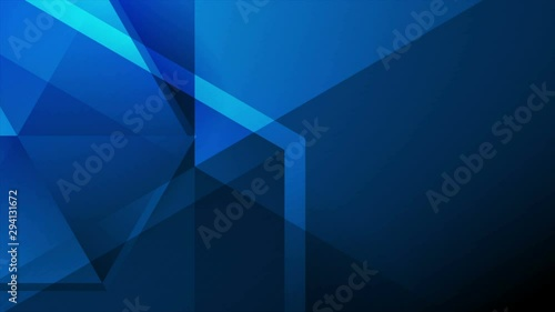 Dark Blue Abstract Tech Polygonal Motion Background
