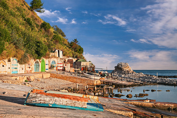 Ancona, Marche, Italy: the metropolitan beach of Passetto