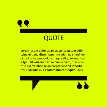Inspirational yellow quote template