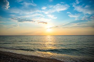 Printed kitchen splashbacks Khaki Landscape at the sea in Kassandra, Greece