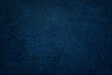 Abstract texture made of azure blue paving tiles. Aerial view.