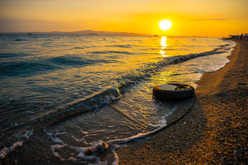 Foto op Canvas Meloen Sea landscape in Kassandra , Greece
