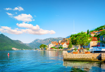 Deurstickers Blauw Montenegro in summer