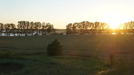 Sonnenuntergang mit schöner Landscjaft