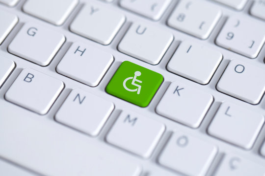 Accessibility disability computer icon.
