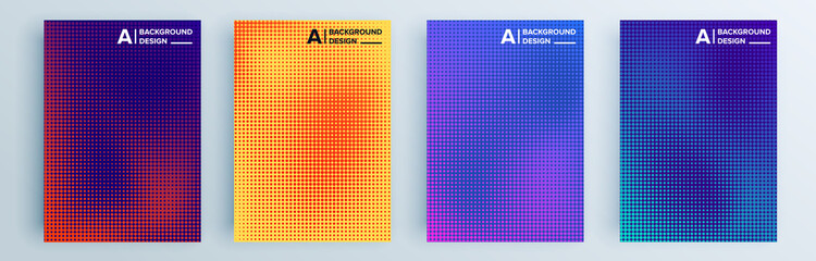 Modern abstract covers set, minimal covers design. Colorful geometric background, vector illustration. Fototapete