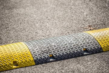 Road bumps to reduce speed - close-up