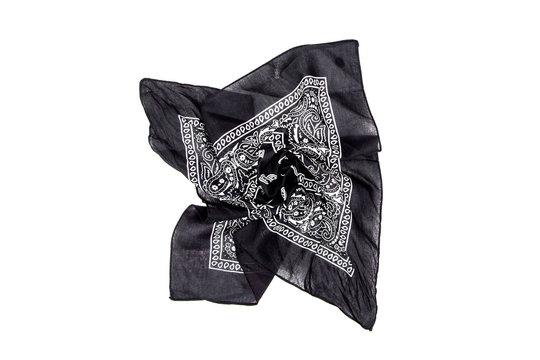 Black bandana isolated on white