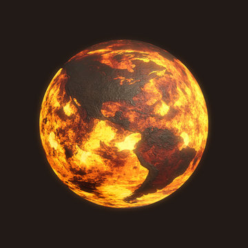 Scorched Post Apocalyptic Planet Earth - America