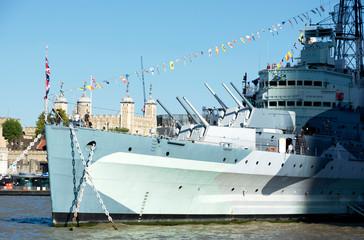 HMS. Belfast cruiser  in 13. September 2019. London ( UK )