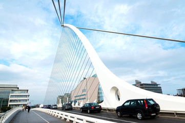 Samuel Beckett Bridge in 08. September 2014, Dublin ( Irealnd )