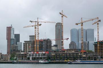 City skyline of Rotterdam 2019