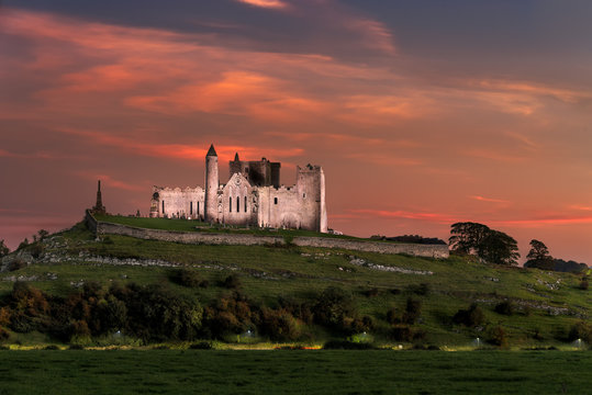 Rock of Cashel, Tipperary at sunset