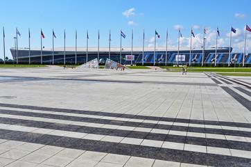Sochi, Russia, August, 10, 2019. Tennis Academy in Sochi Olympic Park (Adler) in summer