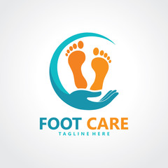 foot logo design template icon vector isolated