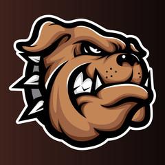 Bulldog Annimal head logo icon vector