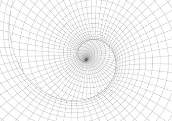 Abstract geometric background. Optical illusion of spiral motion.
