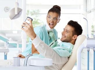 Selfie in dentist's chair