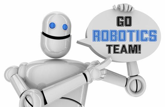 Go Robotics Team Student School Engineering STEM Competition 3d Illustration