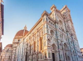 Cathedral of Santa Maria del Fiore on Duomo of Florence in Italy