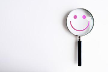 lente di ingrandimento, psicologia, felicità, personalità, psichiatria