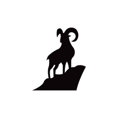 goat animal farm icon vector illustration design silhouette,goat mountain