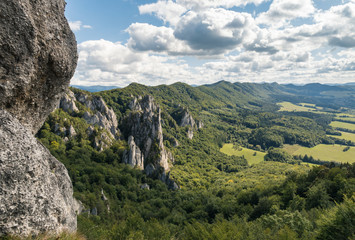 limestone rock formation at Sulov Rocks (Sulovske skaly) in Slovakia