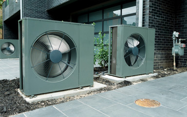 AC units connected to the residential home