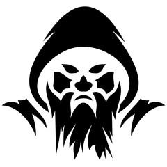 Evil costum illustration for helloween.