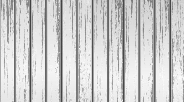 Old white wood texture. Grunge style. Vector illustration for design background