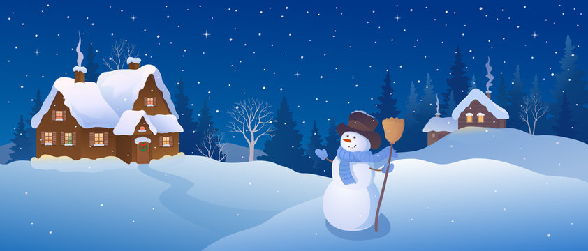 Christmas village snowman