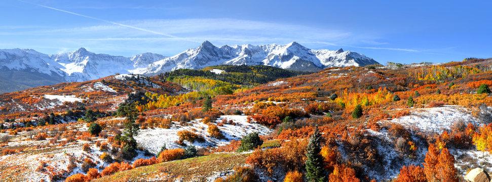 Panoramic view of Dallas divide landscape in Colorado