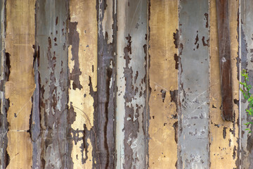 Abstract old wood texture with peeling paint  background