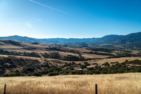 Hills over Ashland Oregon on a beautiful summer morning